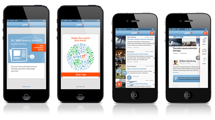 Newsit Mobile App for iPhone