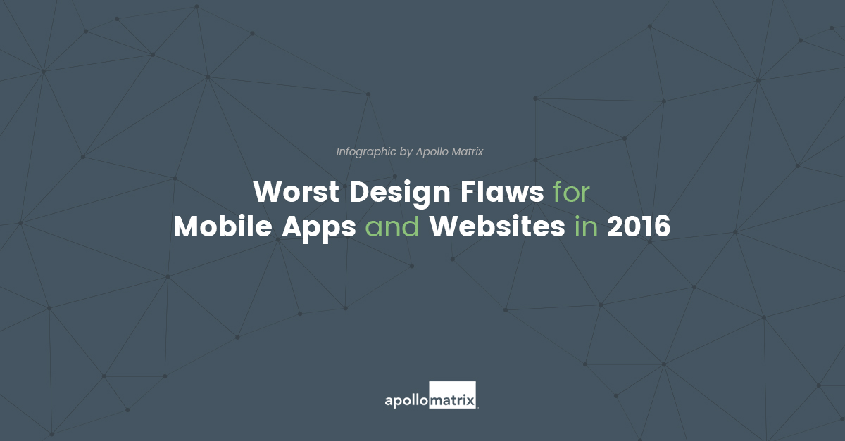 Worst Digital Design Flaws Of 2016 Infographic Apollo